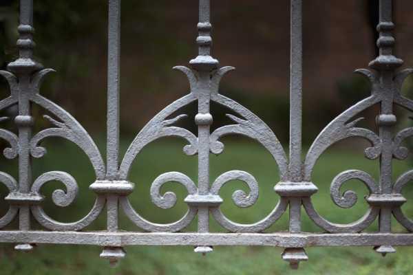 clôture en metal